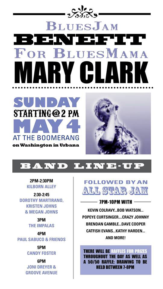 Mary Clark Benefit Poster
